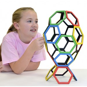 Polydron MAGNETIC HEXAGON – Šesťuholníky (20 ks)